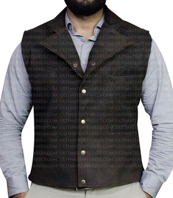 MAGNIFICENT SEVEN CHRIS PRATT SUEDE LEATHER VEST