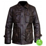 BELSTAFF DARK BROWN DISTRESSED LEATHER JACKET