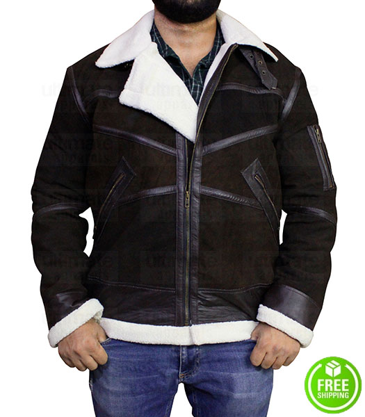 POWER TV SERIES 50 CENT BROWN SHEARLING JACKET