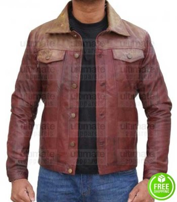 PAIN AND GLORY ASIER ETXEANDIA (ALBERTO CRESPO) LEATHER JACKET
