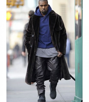 KANYE WEST BLACK LEATHER PANT