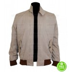 PARKS AND RECREATION ADAM SCOTT BEIGE COTTON JACKET