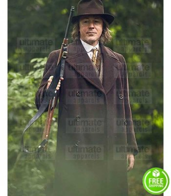 PEAKY BLINDERS AIDAN GILLEN (ABERAMA GOLD) BROWN WOOL COAT