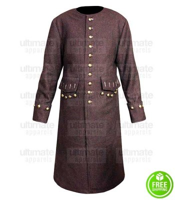 PIRATES OF THE CARIBBEAN JOHNNY DEPP (JACK SPARROW) WOOL COSTUME COAT