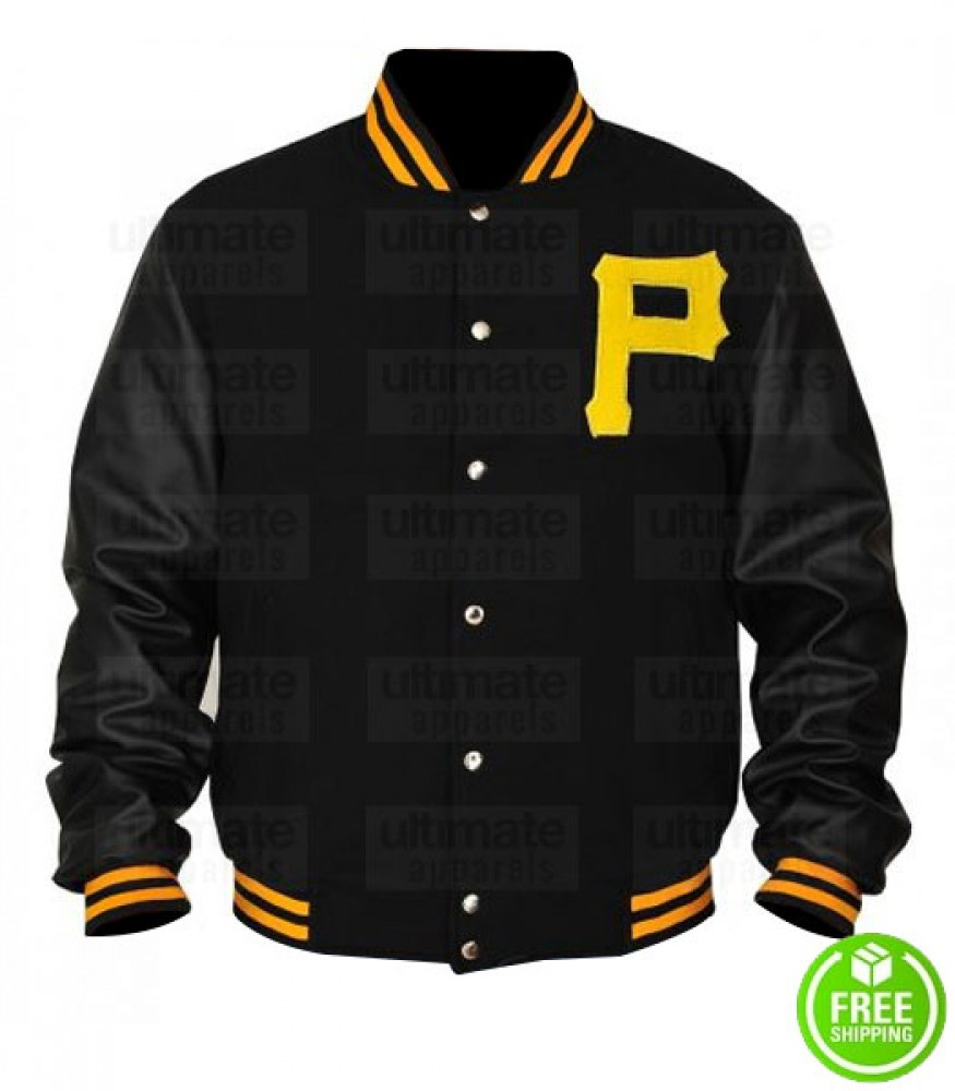 PITTSBURGH PIRATES LETTERMAN BOMBER JACKET
