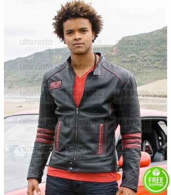 POWER RANGERS EKA DARVILLE (SCOTT TURMAN) BLACK LEATHER JACKET