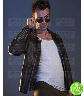 PREACHER JOSEPH GILGUN (CASSIDY) BROWN LEATHER JACKET
