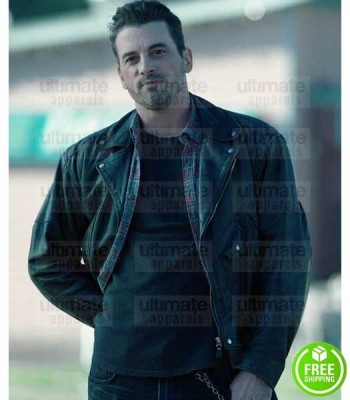 RIVERDALE SKEET ULRICH (FP JONES) BLACK LEATHER JACKET