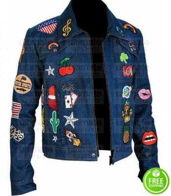 ROCKETMAN TARON EGERTON (ELTON JOHN) BLUE DENIM JACKET
