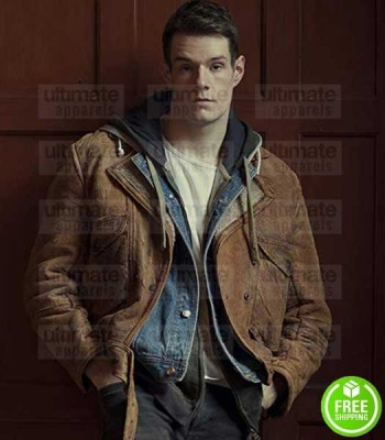SEX EDUCATION CONNOR SWINDELLS (ADAM GROFF) BROWN LEATHER JACKET