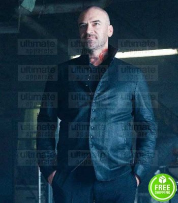 SHADOWHUNTERS ALAN VAN SPRANG (VALENTINE MORGENSTERN) BLACK LEATHER JACKET