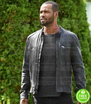 SHADOWHUNTERS ISAIAH MUSTAFA (LUCIAN GRAYMARK) BLACK LEATHER JACKET