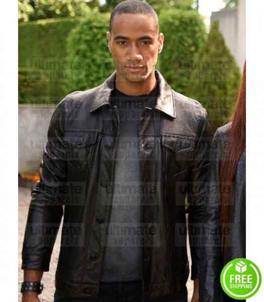 SHADOWHUNTERS NYKEEM PROVO (YOUNG LUKE GARROWAY) BLACK LEATHER JACKET