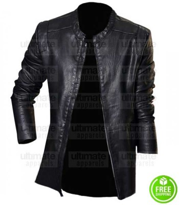 SKINNY MEN'S BLACK LEATHER JACKET