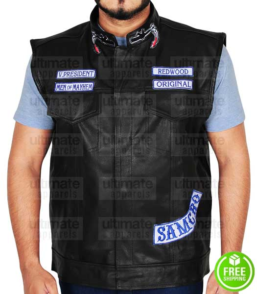 SONS OF ANARCHY JAX TELLER (CHARLIE HUNNAM) LEATHER VEST