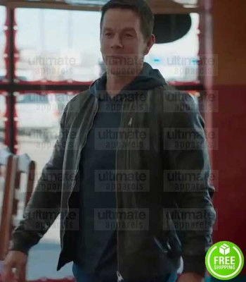 SPENSER CONFIDENTIAL MARK WAHLBERG (SPENSER) BROWN LEATHER JACKET
