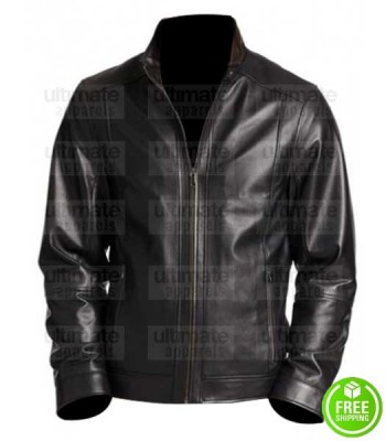 SUICIDE SQUAD JOEL KINNAMAN (RICK FLAG) BLACK LEATHER JACKET