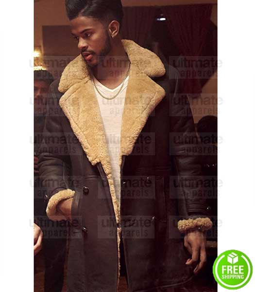 SUPERFLY TREVOR JACKSON (YOUNGBLOOD PRIEST) SHEARLING LEATHER COAT