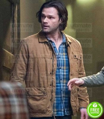 SUPERNATURAL JARED PADALECKI (SAM WINCHESTER) BROWN COTTON JACKET