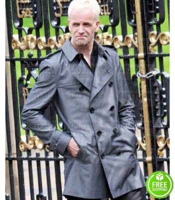 T2 TRAINSPOTTING JONNY LEE MILLER (SIMON) COTTON GREY COAT