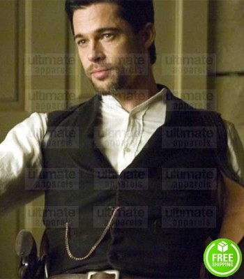 THE ASSASSINATION OF JESSE JAMES BARD PITT (JESSE JAMES) BLACK COTTON VEST