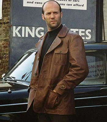 THE BANK JOB JASON STATHAM (TERRY LEATHER) BROWN JACKET