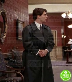 THE FIRM TOM CRUISE (MITCH MCDEERE) BLACK COTTON TRENCH COAT
