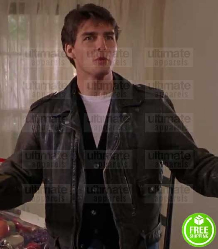 THE FIRM TOM CRUISE (MITCH MCDEERE) BLACK LEATHER JACKET