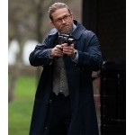 THE GENTLEMEN CHARLIE HUNNAM (RAY) BLUE COTTON COAT