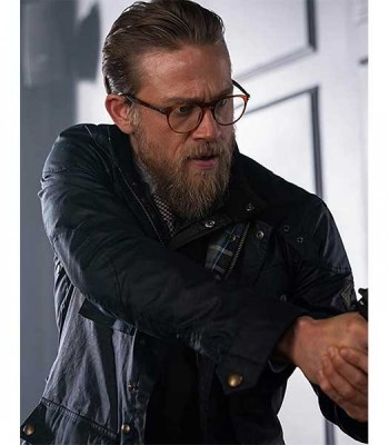 THE GENTLEMEN RAY (CHARLIE HUNNAM) BLUE JACKET