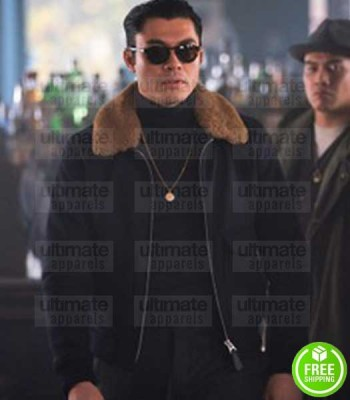 THE GENTLEMEN HENRY GOLDING (DRY EYE) BLACK SUEDE LEATHER JACKET