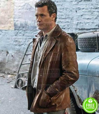 THE MAN IN THE HIGH CASTLE JASON O'MARA (WYATT PRICE) BROWN LEATHER JACKET