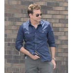 THE MULE BRADLEY COOPER BLUE SHIRT