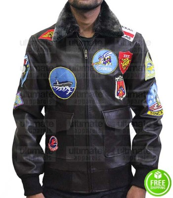 Top Gun Tom Cruise Bomber Replica Aviator Flight Jacket