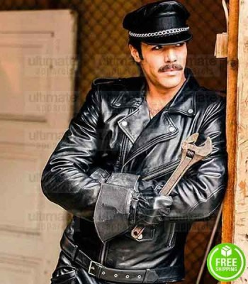 TOM OF FINLAND NIKLAS HOGNER (KAKE) BLACK LEATHER JACKET