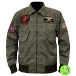 TOP GUN 2 TOM CRUISE (MAVERICK) GREEN AVIATOR BOMBER JACKET