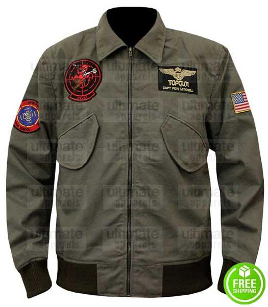 TOP GUN 2 TOM CRUISE (MAVERICK) GREEN AVIATOR BOMBER JACKET
