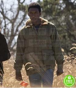 TRUE DETECTIVE MAHERSHALA ALI (WAYNE HAYS) BROWN FUR COLLAR COTTON JACKET