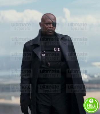 CAPTAIN AMERICA WINTER SOLDIER SAMUEL L. JACKSON (NICK FURY) COTTON COAT