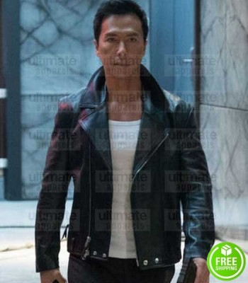 XXX RETURN OF XANDER CAGE DONNIE YEN (XIANG) BLACK LEATHER JACKET