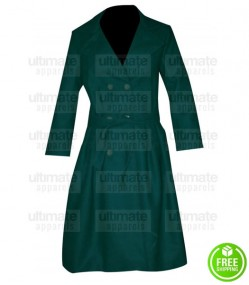 AGE OF ADALINE BLAKE LIVELY (ADALINE) GREEN TRENCH COAT