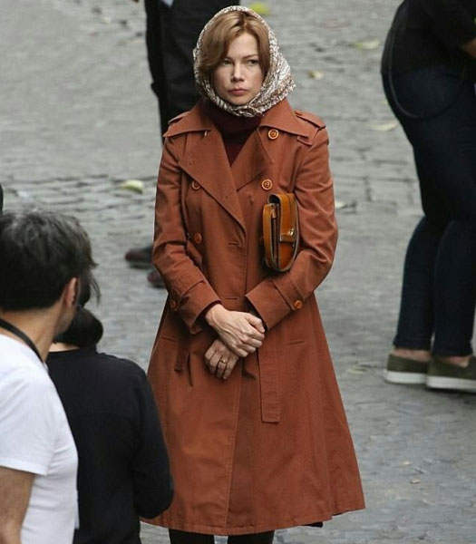 ALL THE MONEY IN THE WORLD MICHELLE WILLIAMS BROWN COAT