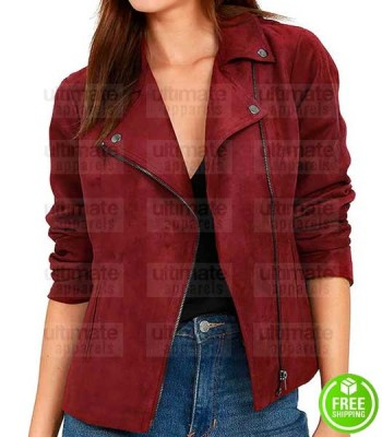 ARROW WILLA HOLLAND (THEA QUEEN) RED SUEDE JACKET