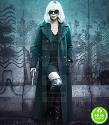 ATOMIC BLONDE CHARLIZE THERON (LORRAINE BROUGHTON) BLACK COAT