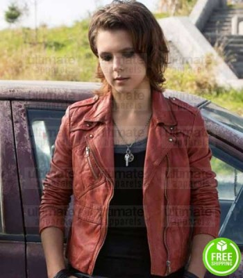 BATES MOTEL PALOMA KWIATKOWSKI (CODY BRENNAN) RED LEATHER JACKET