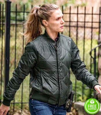 CHICAGO P.D TRACY SPIRIDAKOS (HAILEY UPTON) GREEN BOMBER JACKET