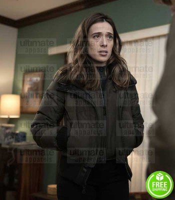 CHICAGO P.D MARINA SQUERCIATI (KIM BURGESS) GREEN COTTON JACKET