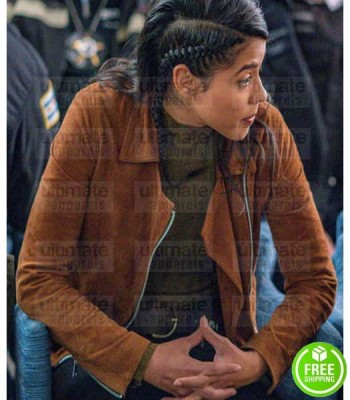 CHICAGO P.D VANESSA ROJAS (LISSETH CHAVEZ) BROWN SUEDE LEATHER JACKET