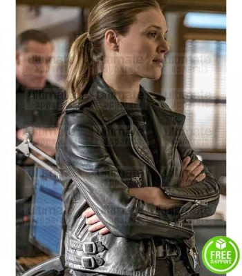 CHICAGO PD TRACY SPIRIDAKOS (HAILEY UPTON) BLACK LEATHER JACKET