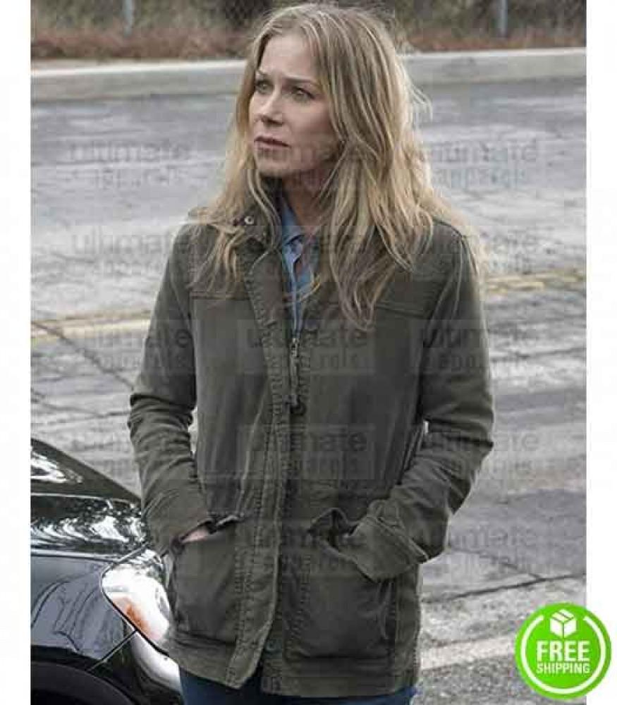 DEAD TO ME CHRISTINA APPLEGATE (JEN HARDING) GREEN COTTON COAT